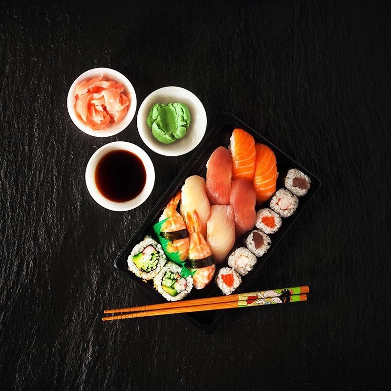 sushi på meny