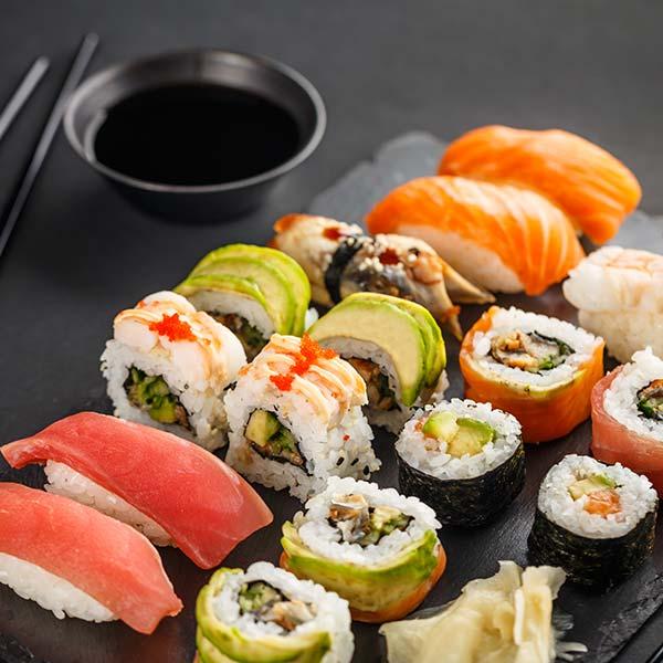 stor sushi meny
